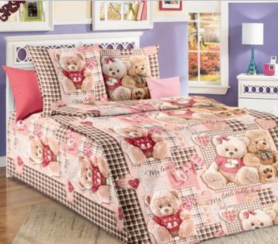 """Постельное бельё """"Плюшевый мишка"""", р-р 1,5 спальный"""