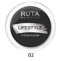 """RUTA Тени компактные """"LIFESTYLE""""оттенок: 02 черный бархат"""