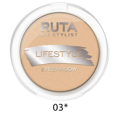 "RUTA Тени компактные ""LIFESTYLE""оттенок: 03* шампань"