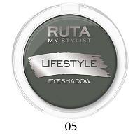 """RUTA Тени компактные """"LIFESTYLE""""оттенок:05 темный изумруд"""