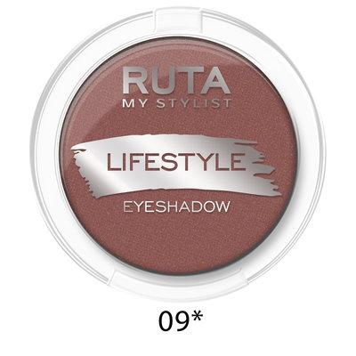 "RUTA Тени компактные ""LIFESTYLE""оттенок:09 сияющий бордо"