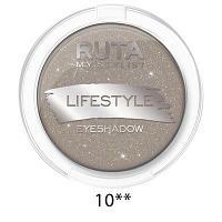 "RUTA Тени компактные ""LIFESTYLE""оттенок: 10 дымчатый кварц"