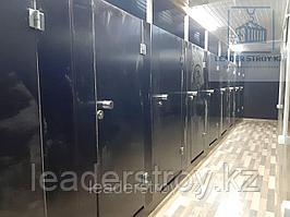 Утепленный контейнер под туалет из 40 футового контейнера
