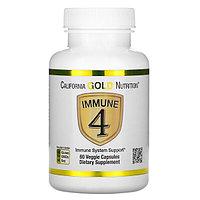 БАД Immune4, средство для укрепления иммунитета (60 капсул) витамин С, D3, селен, цинк