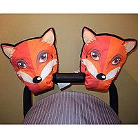 Варежки муфты перчатки для рук для коляски лисы