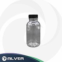 Бутылка 300мл, широкое горло, прозрачная с крышкой