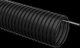 Труба гофр.ПНД d40 с зондом (15м) ИЭК черный