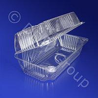 Kazakhstan Контейнер пластиковый 1780мл PET прозрачный с нераздельной крышкой 20,6x10,0x8,0см 320 шт/кор