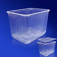 Kazakhstan Контейнер пластиковый 2000мл PP прозрачный 18х13х15,5см