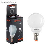 Лампа энергосберегающая TDM, Е14, G55, 11 Вт, 4000 К