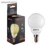 Лампа энергосберегающая TDM, Е14, G55, 11 Вт, 2700 К