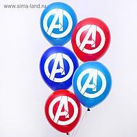 """Воздушные шары """"Avengers"""", Мстители, 12 дюйм (набор 50 шт)"""