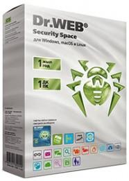 Dr.Web Security Space Лицензионный сертификат для 1 ПК на 1 год + 1 месяц в подарок (BHW-BK-12M-1-A3)