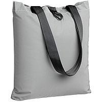 Шоппер Manifest из светоотражающей ткани, серый, фото 1