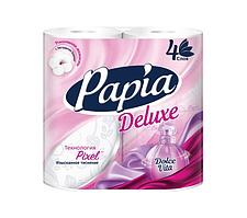 """Туалетная бумага рулонная Papia """"Deluxe DOLCE VITA"""" 17.5 метров, 4-х слойная, 4 рулона"""