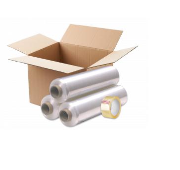 Упаковка (картон, стрейч-пленка)