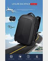 Городской Рюкзак для ноутбука 17,3 дюйма с USB портом и противоударным бампером OZUKO черный