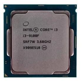 CPU Intel Core i3 9100F, 3.6 GHz, S-1151