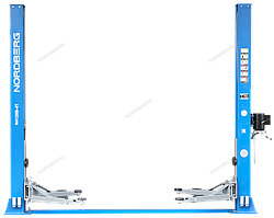 NORDBERG ПОДЪЕМНИК N4120B-4T_380V 2х стоечный электрогидравлич. 4т (синий)
