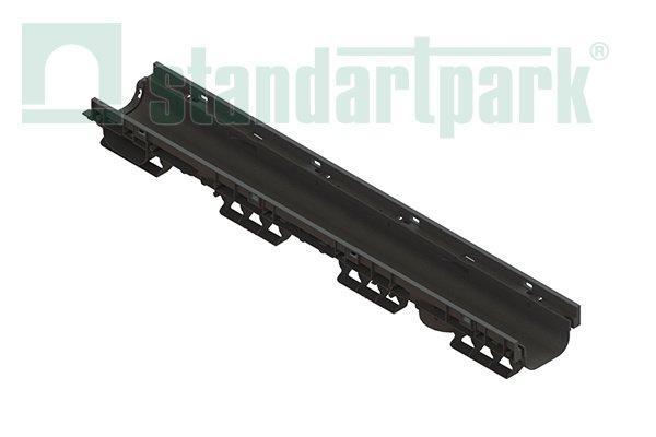 Лоток водоотводный PolyMax Basic DN100 H80 пластик высокий борт