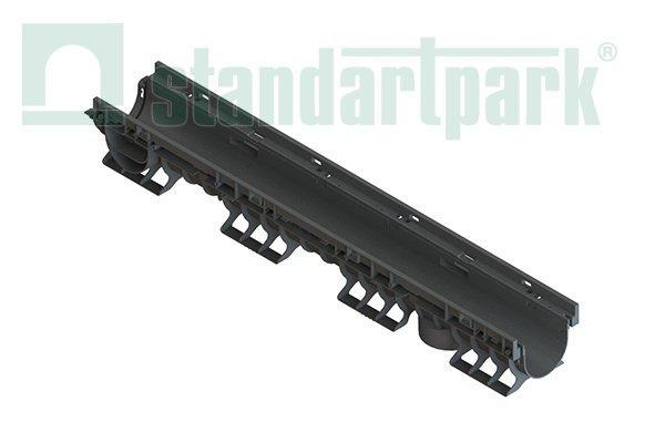 Лоток водоотводный PolyMax Basic DN100 H120 пластик высокий борт