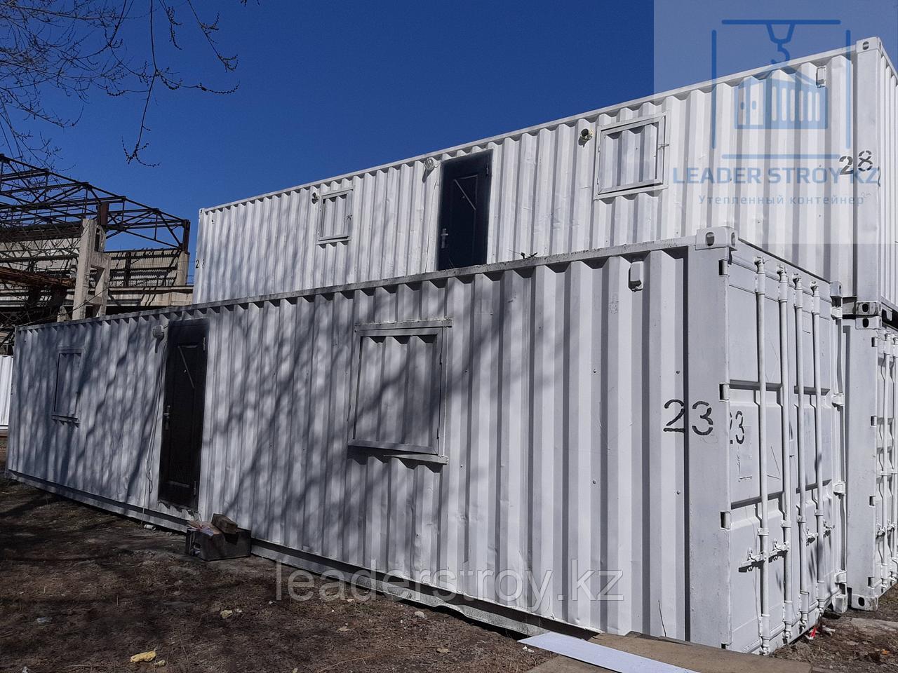 Жилой контейнер под склад хранение одежды из 40 футового контейнера