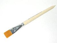 Кисть нейлон плоская № 20 Колонок искусственный Эдельвейс