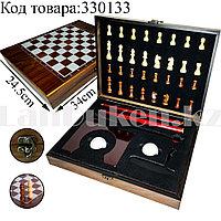 Подарочный набор Шахматы и Мини-гольф 2в1 24.5х34см клюшка 2 шарика для гольфа и лунка №6130