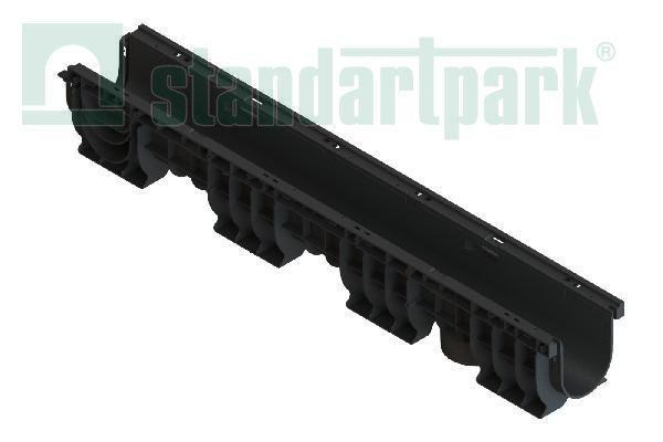 Лоток водоотводный PolyMax Basic DN100 H155 пластиковый