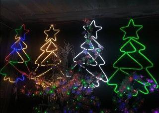 Новогодняя неоновая елка