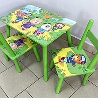 Детский стол с двумя стульчиками 2547-39