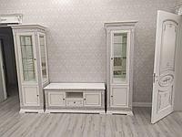 ТВ гостиная Патриция, белое/серебро