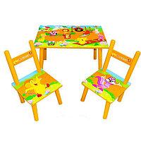 Детский стол с двумя стульчиками 2547-37