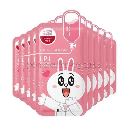 Осветляющая маска для лица Mediheal Line Friends I.P.I Lightmax Ampoule Mask