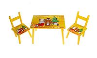 Детский стол с двумя стульчиками 2547-27
