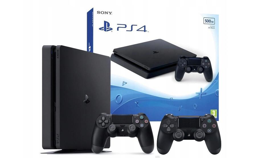 Консоль SONY PLAYSTATION 4 PS4 SLIM CONSOLE 2x Pad 500 ГБ