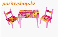Детский стол с двумя стульчиками 2547-38