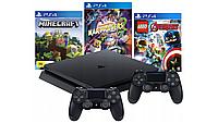 Консоль PS4 SLIM 1 ТБ + 2 блокнота V2 + MINECRAFT + LEGO + КАРТА