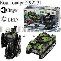 Игрушка детская Танк Трансформер со звуковым и световым сопровождением Warrior Robot №9901А