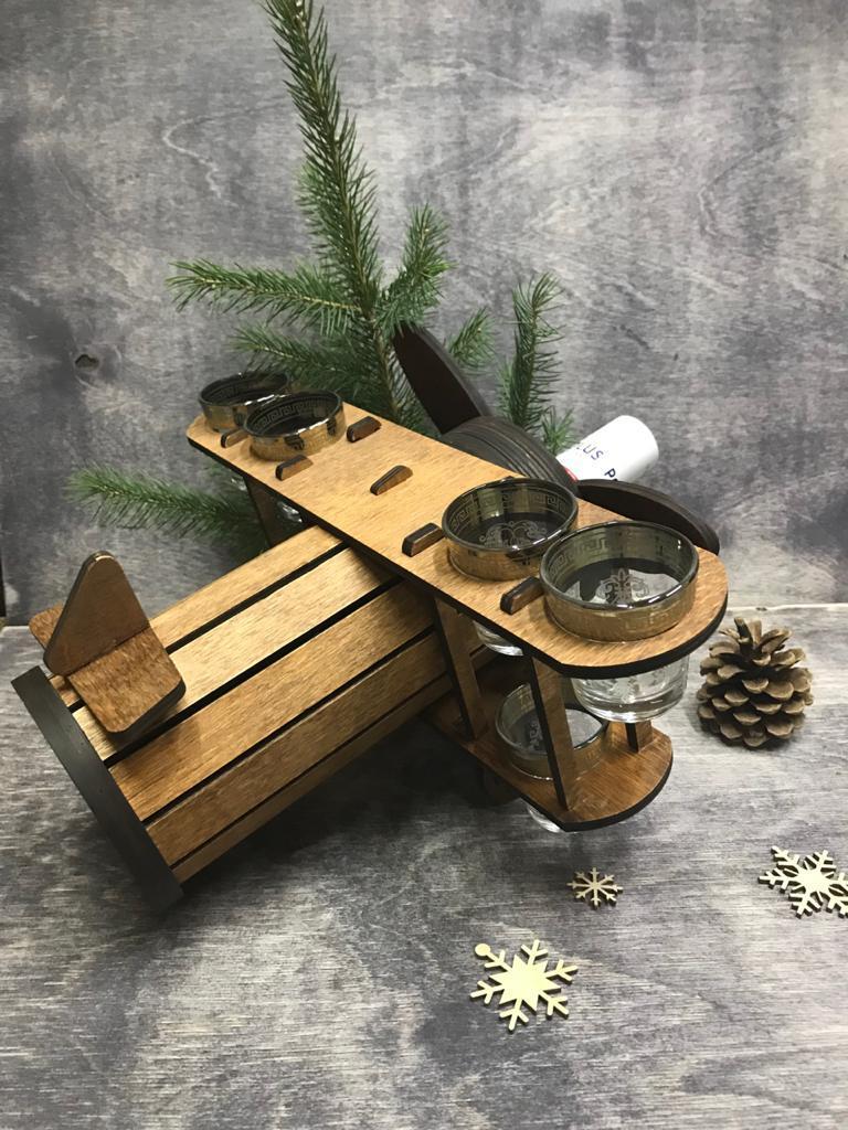 Минибар Самолет. Отличный подарок мужчинам или коллегам! Мини-бар из дерева! Kaspi RED. Рассрочка. - фото 3