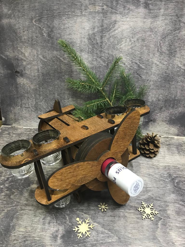 Минибар Самолет. Отличный подарок мужчинам или коллегам! Мини-бар из дерева! Kaspi RED. Рассрочка. - фото 2