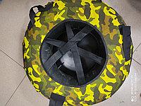 Тюбинг-ватрушка с пластиковым дном 90 см