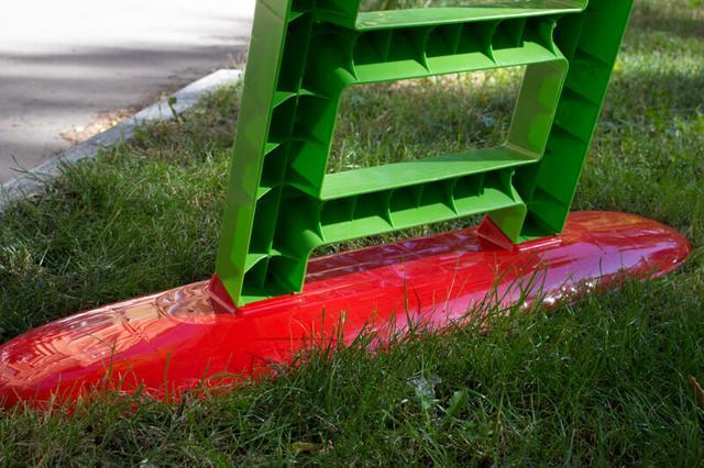 Горка детская Doloni 01550/3 зеленый