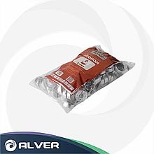 Свеча в алюминиевой гильзе Эконом, белая, в пакете 100шт в упак