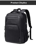 Рюкзак городской стильный рюкзак от BANGE для длительного путешествия. Цвет Черный