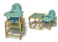 Стул-стол для кормления Сенс-М СТД 07 Бирюзовый