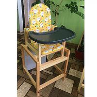 Стул-стол для кормления Сенс-М СТД 07 Кошки желтый