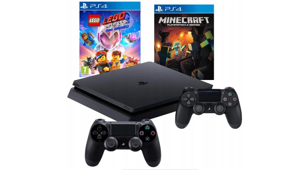 Консоль PS4 SLIM 1 ТБ + 2 PAD + LEGO ADVENTURE 2 + MINECRAFT