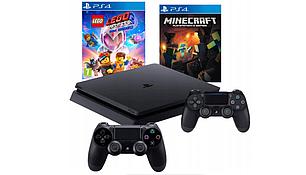 Консоль PS4 SLIM 1 ТБ + 2 PAD + LEGO ADVENTURE 2 + MINECRAFT, фото 2