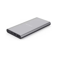 Портативный аккумулятор orico t1-v1-bk smart, usb и type-c, 10000 мач, 8a-12a, 151x76x14x mm v2